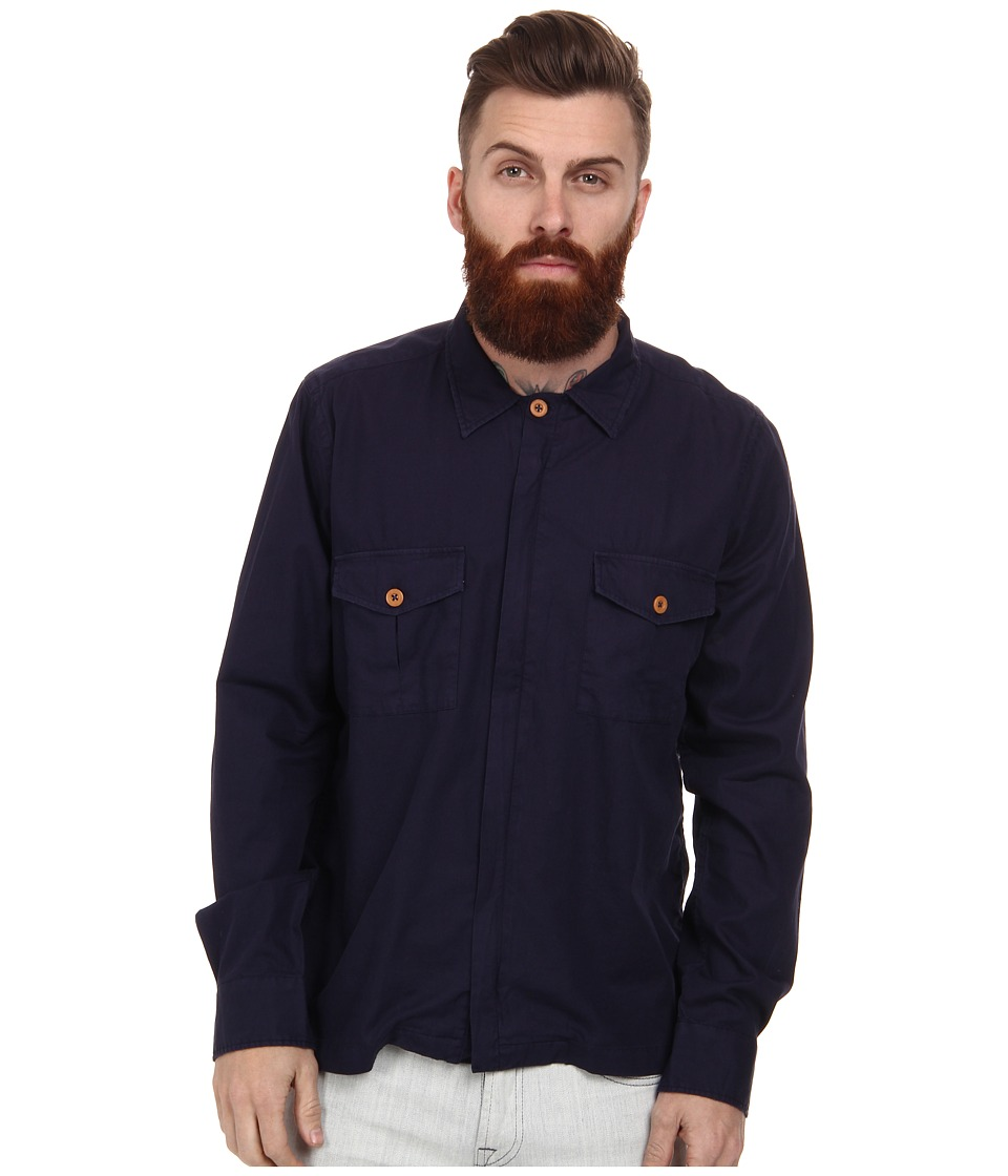 Gant Rugger - R. Shirt Jacket (Classic Blue) Men's Long Sleeve Button Up