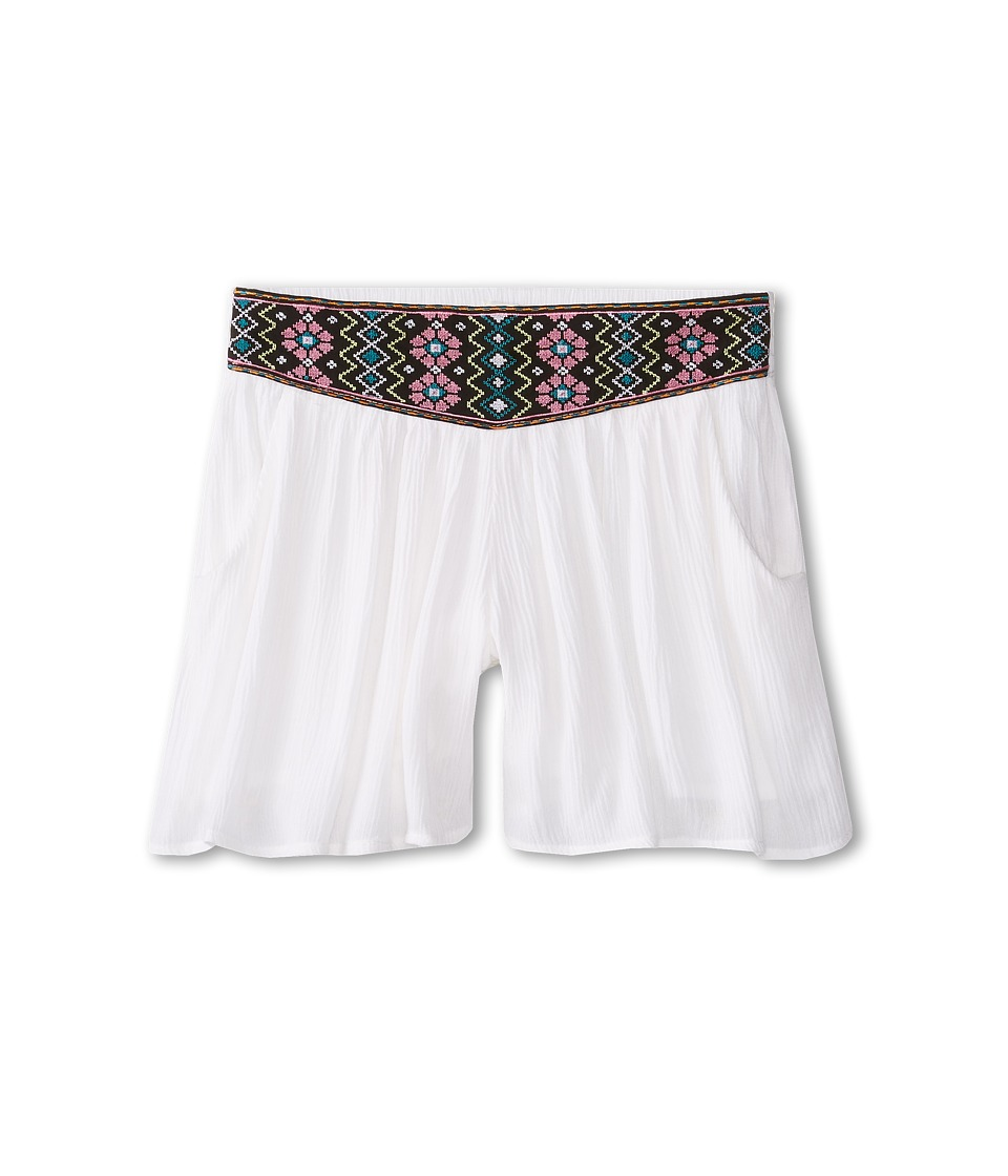 Ella Moss Girl - Jilly Shorts (Big Kids) (White) Girl