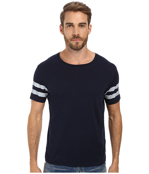 Gant Rugger - R. Sleeve Stripe Tee (Airforce Blue) Men's T Shirt