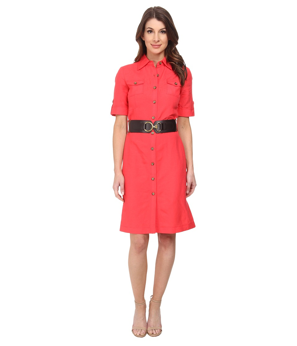 Tahari by ASL - Tom - Z Dress (Tomato) Women's Dress