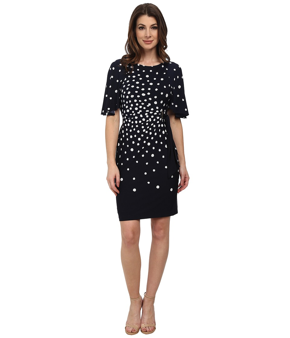 Tahari by ASL - Charles - P Dress (Navy/Ivory) Women's Dress