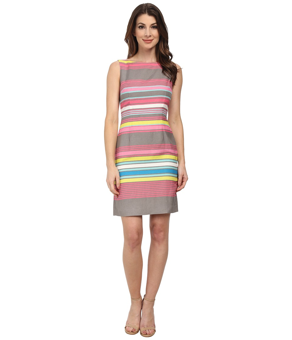 Tahari by ASL - Rick- Q Dress (Grey/Pink/Citrine) Women's Dress
