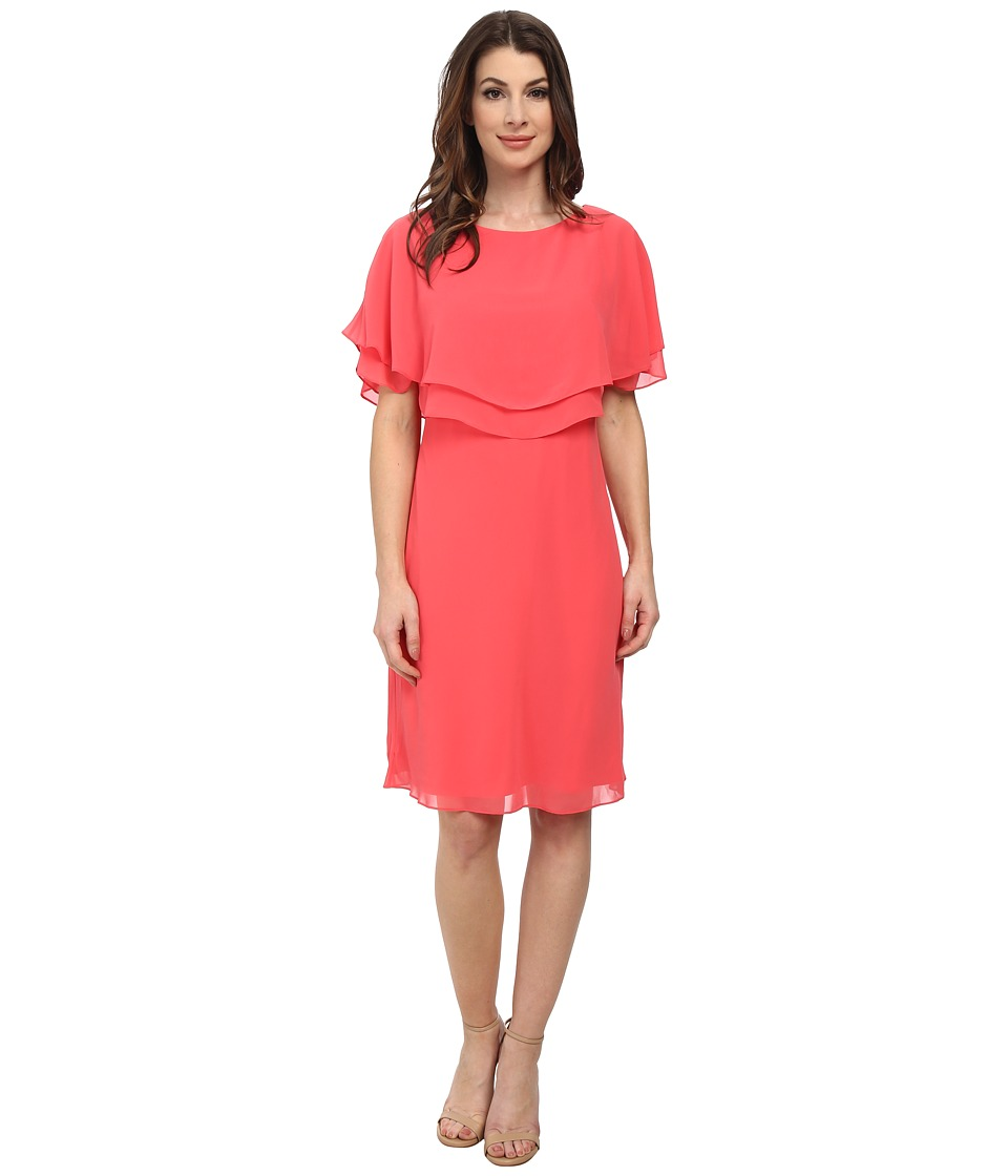 Tahari by ASL - Jeffrey - K Dress (Coral) Women's Dress