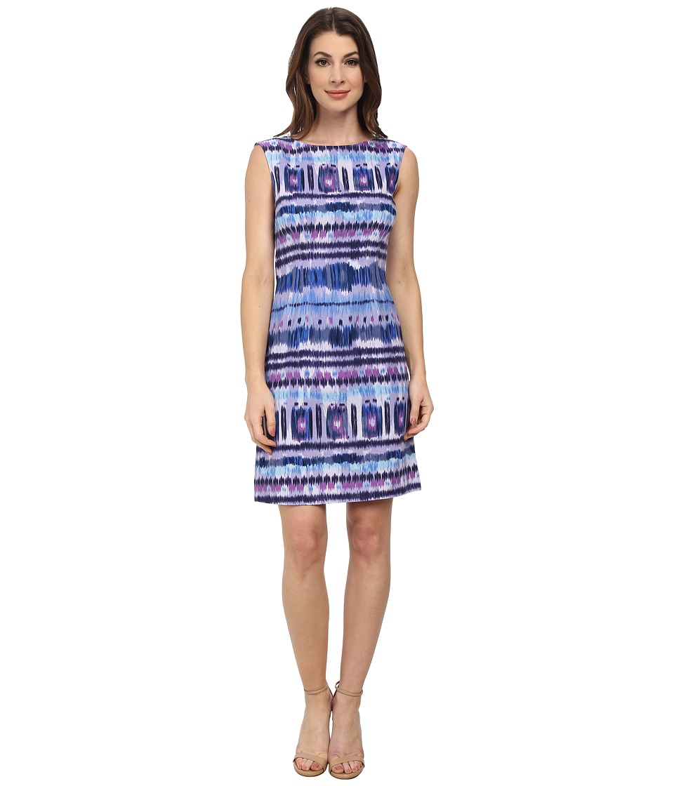 Tahari by ASL - Lucas - Q Dress (Lavender/Cerulean) Women's Dress