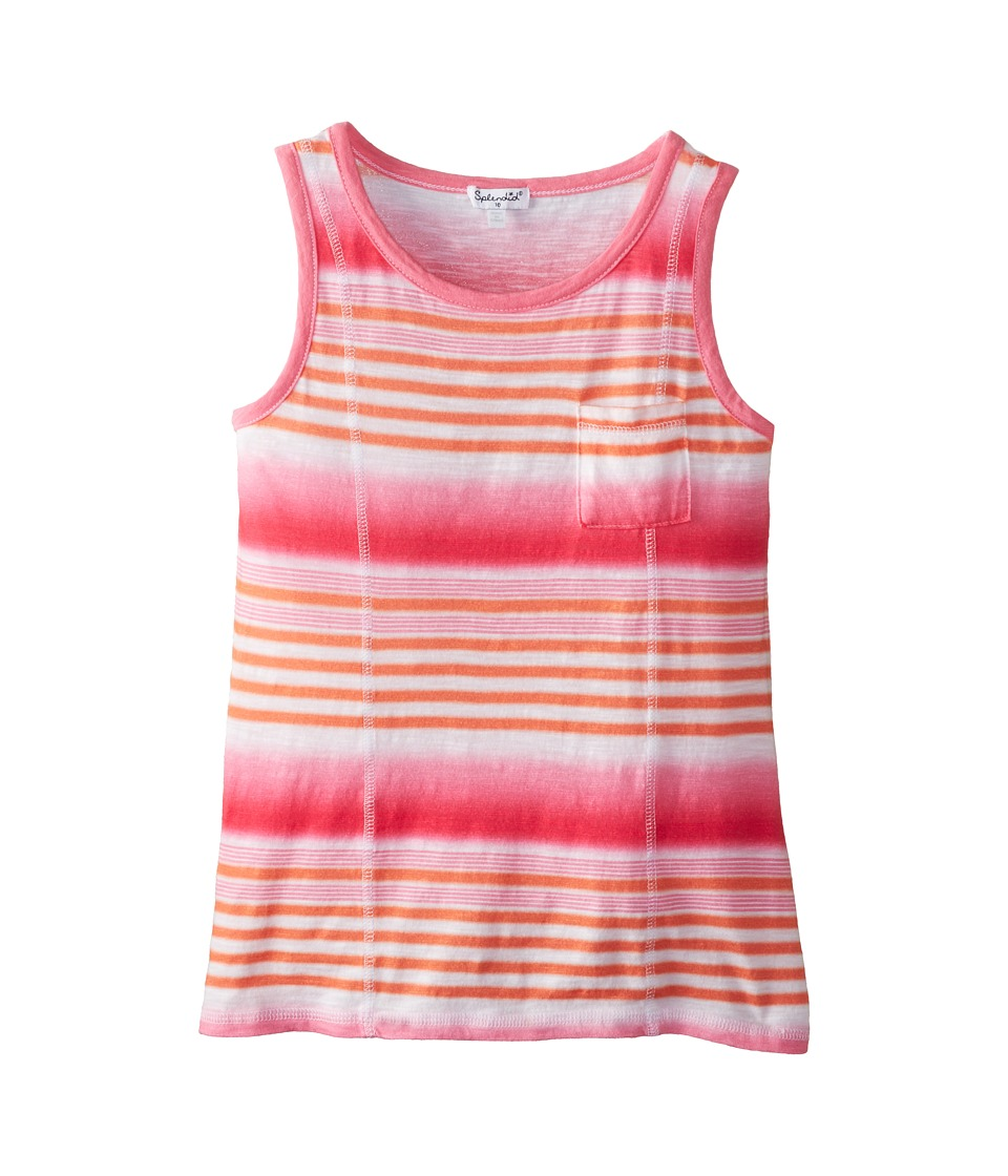 Splendid Littles - Printed Ombre Stripe Top (Big Kids) (Hot Pink) Girl's Clothing