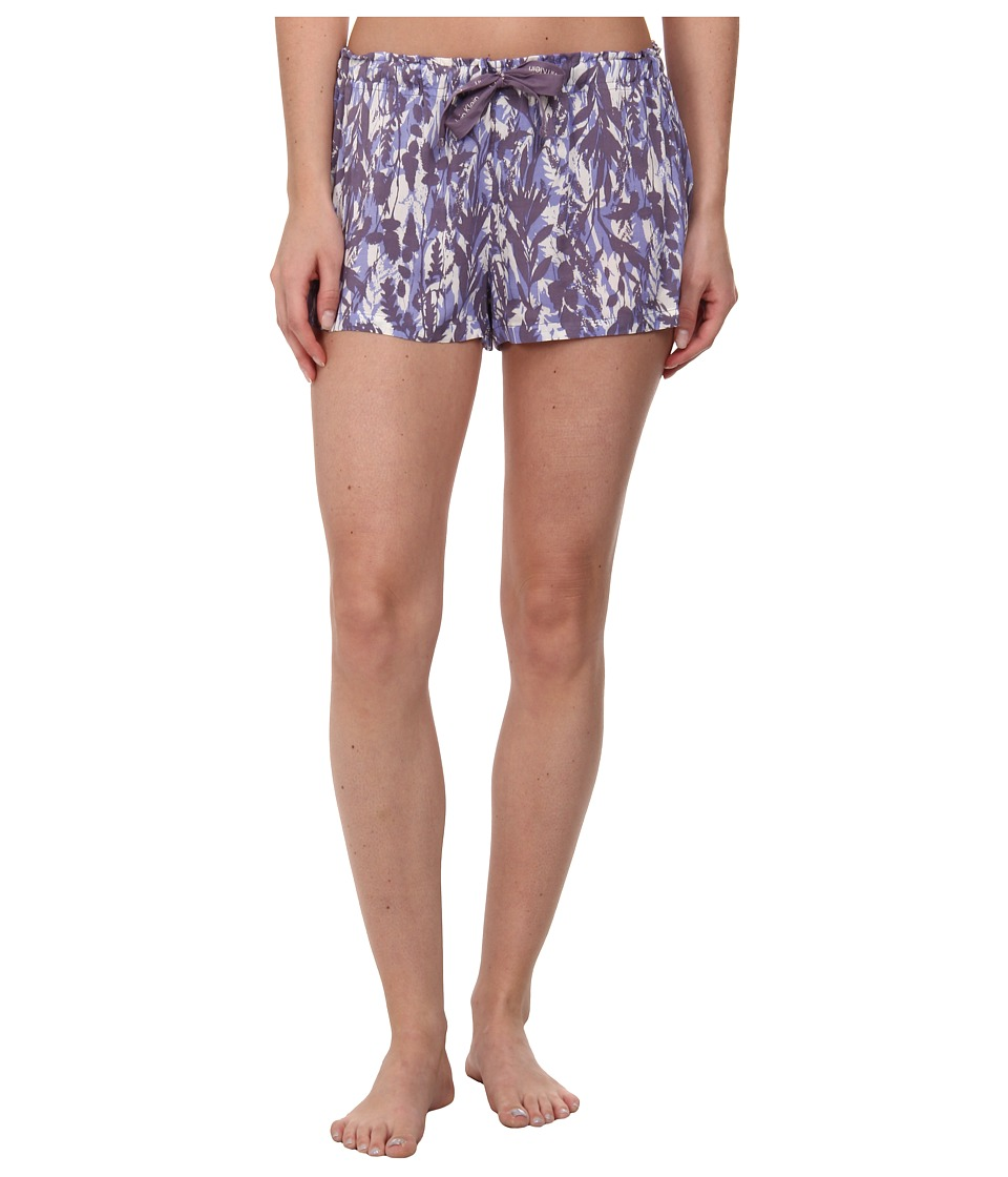 Calvin Klein Underwear - Woven Viscose Sleep Shorts (Garden Print/Purity) Women's Pajama