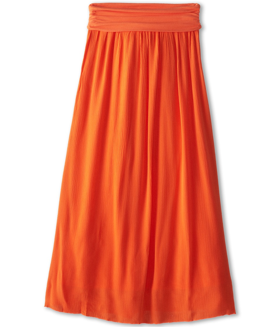 Splendid Littles - Woven Maxi Skirt (Big Kids) (Orange) Girl's Skirt