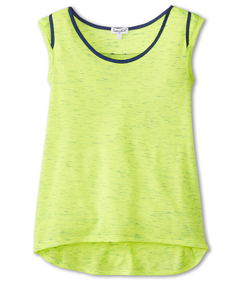 Splendid Littles - Textured Knit Speckled Top (Big Kids) (Lime) Girl's Clothing