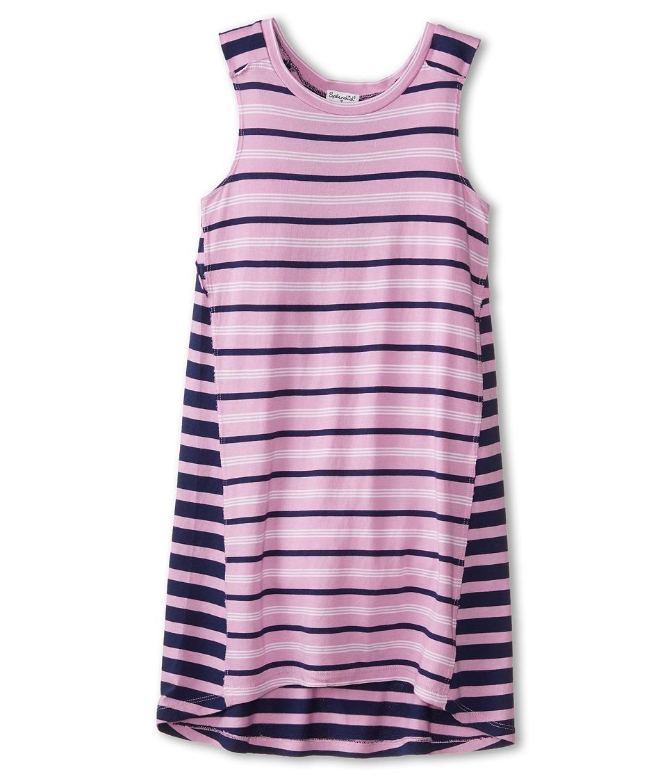 Splendid Littles - Classic Stripe Knit Dress (Big Kids) (Lavender) Girl's Dress