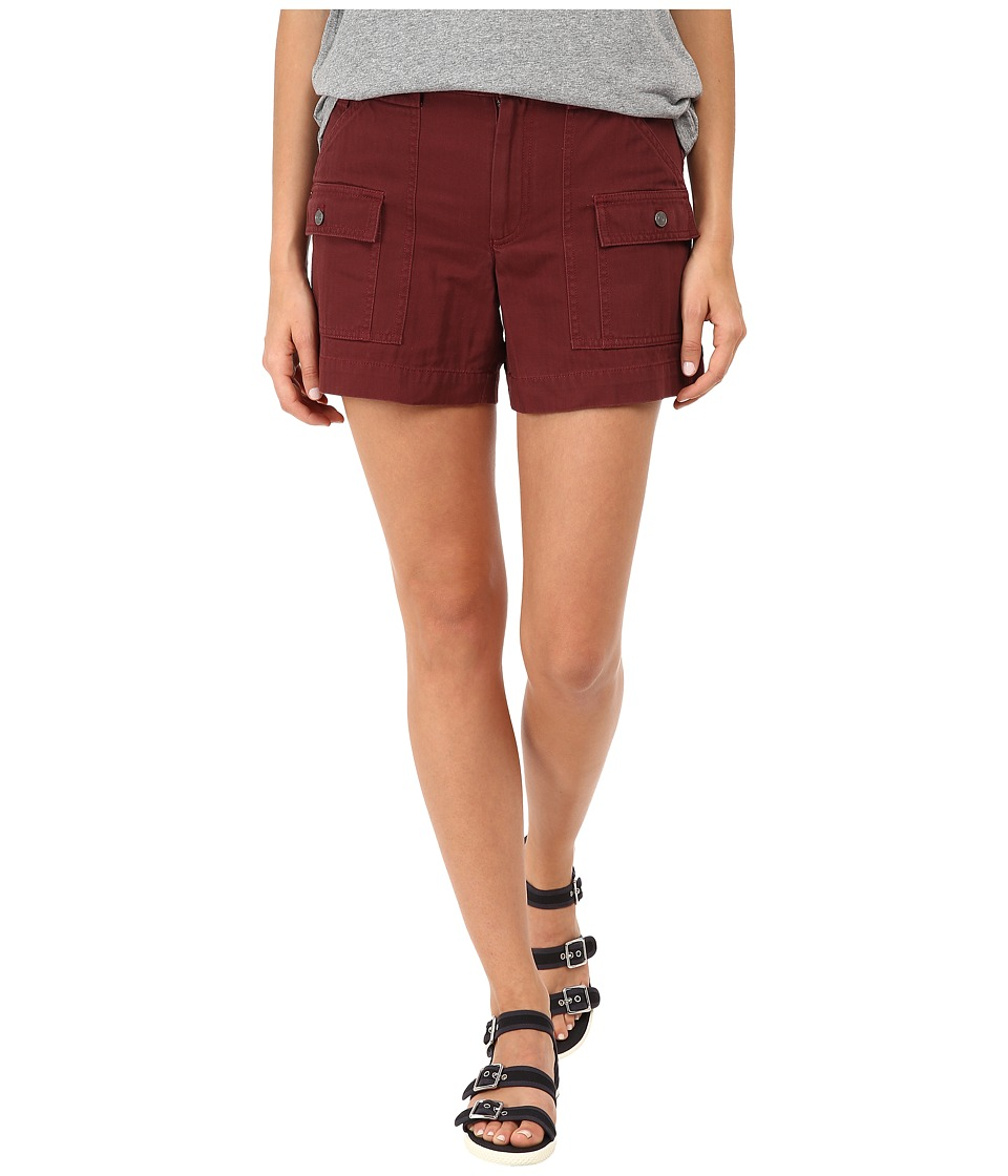 Marc by Marc Jacobs - Greenwich Army Cotton Patch Pocket Shorts (Misty Merlot) Women's Shorts