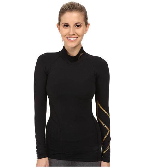2XU - Alpine MCS Thermal Compression Top (Black/Gold) Women's Clothing