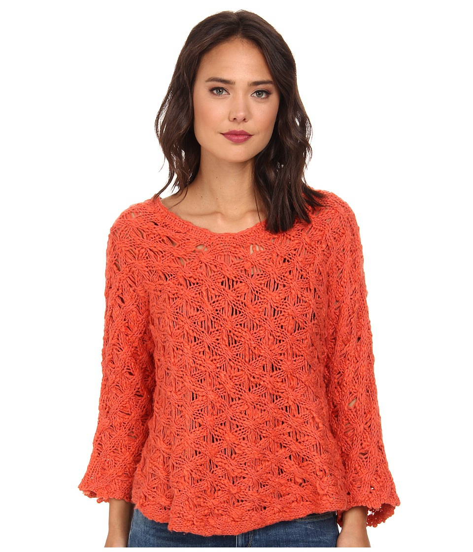 Free People - Cowl Back Pullover (Coral Reef) Women's Sweater