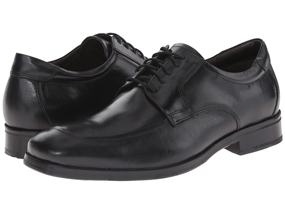 Johnston & Murphy - Feldon Moc Lace-Up (Black Calfskin) Men's Lace Up Moc Toe Shoes