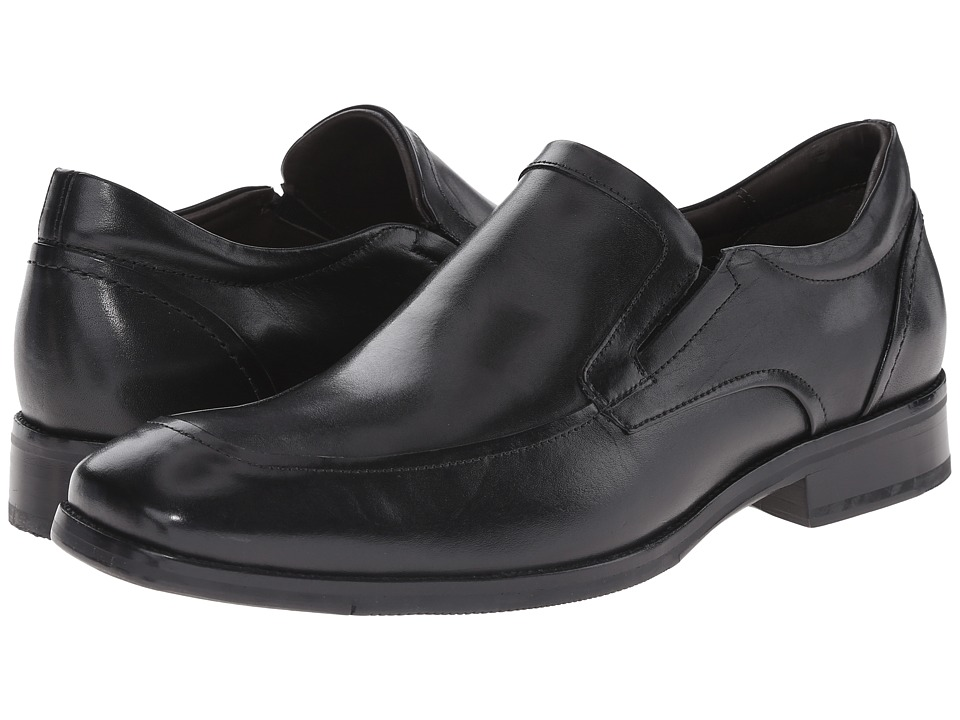 Johnston & Murphy Feldon Moc Venetian (Black Calfskin) Men