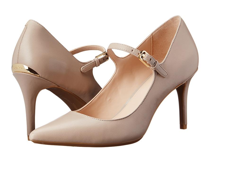 Calvin Klein - Genavee (Greige Leather) High Heels