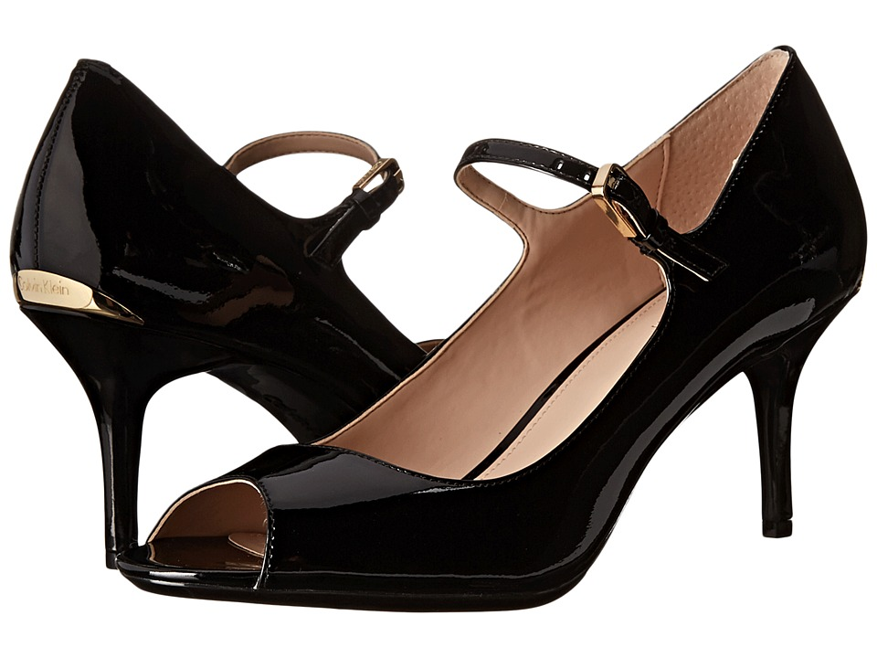Calvin Klein - Leila (Black Patent) Women's Shoes