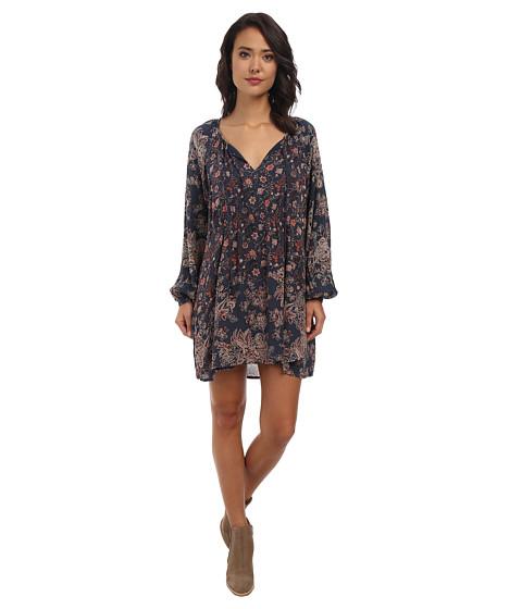 Free People - Lucky Loosey (Indigo Combo) Women's Dress