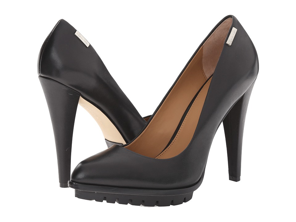 Calvin Klein - Leilani (Black Cow Silk) Women's Shoes