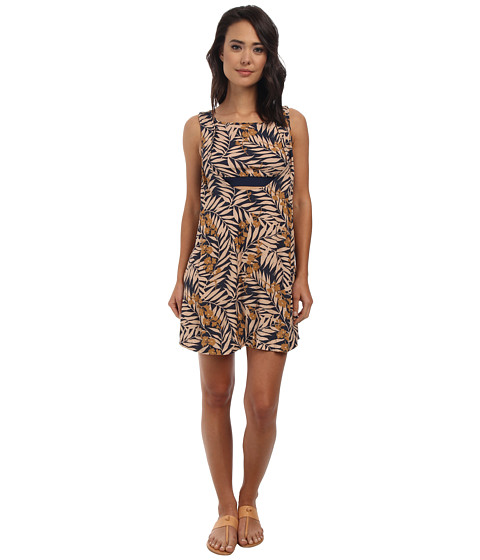 Free People - Tropical 2-fer Printed Mini Dress (Navy Combo) Women
