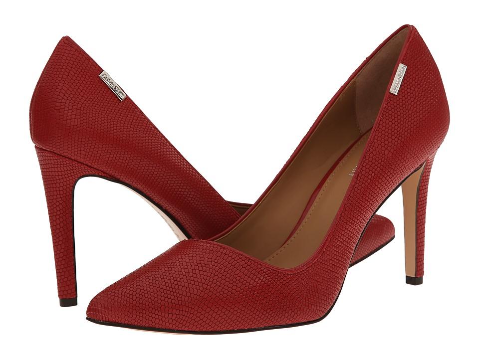 Calvin Klein - Calida (Flame Red Matte Lizard) High Heels