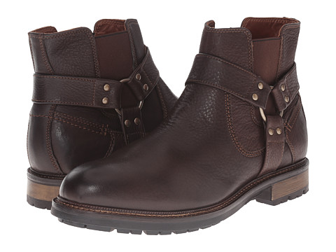 Johnston & Murphy - McHugh Harness Boot (Brown Waterproof Tumbled Full Grain) Men's Pull-on Boots