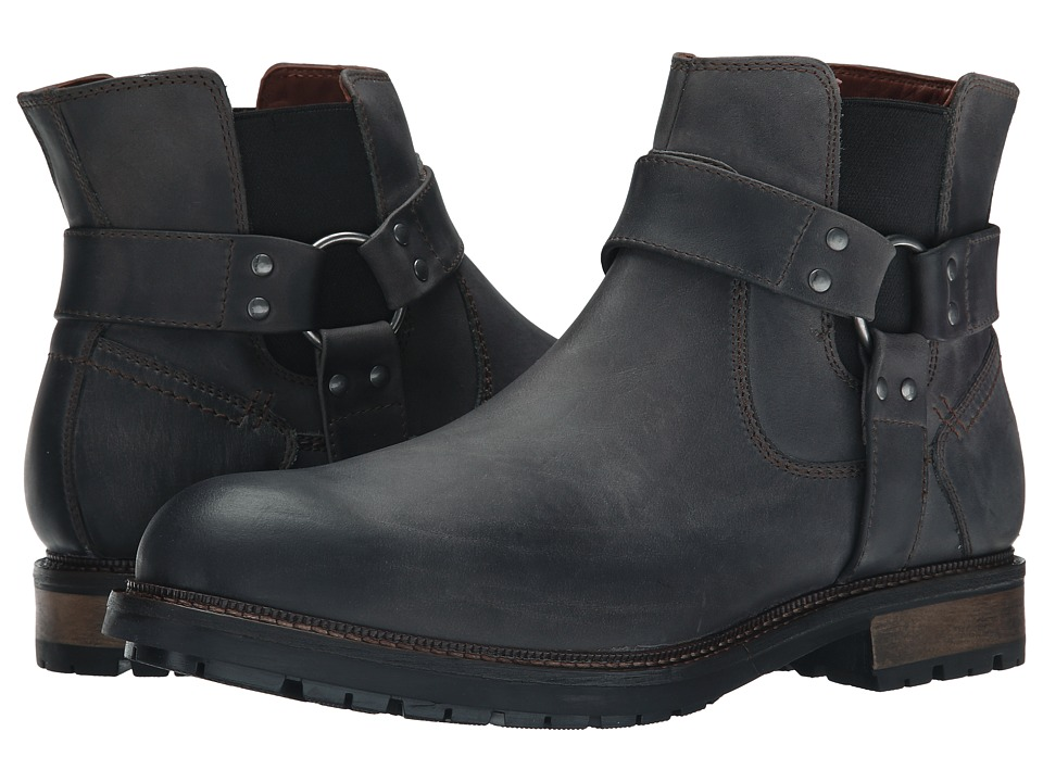 Johnston & Murphy - McHugh Harness Boot (Cement Waterproof Full Grain) Men's Pull-on Boots