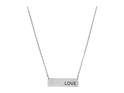Dee Berkley - Love Plate Necklace (Silver) Necklace