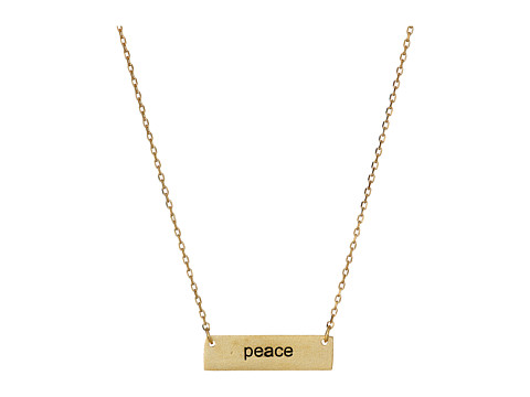 Dee Berkley - Peace Plate Necklace (Gold) Necklace