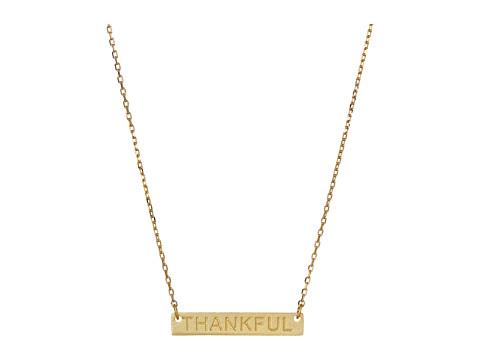 Dee Berkley - Thankful Plate Necklace (Gold) Necklace