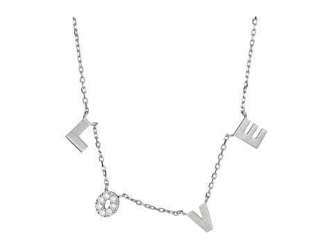Dee Berkley - Love with Cubic Zirconia Necklace (Silver) Necklace