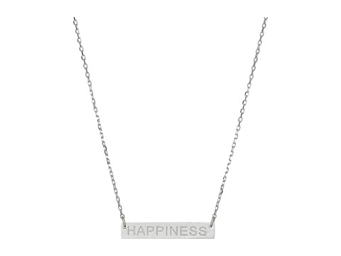 Dee Berkley - Happiness Plate Necklace (Silver) Necklace