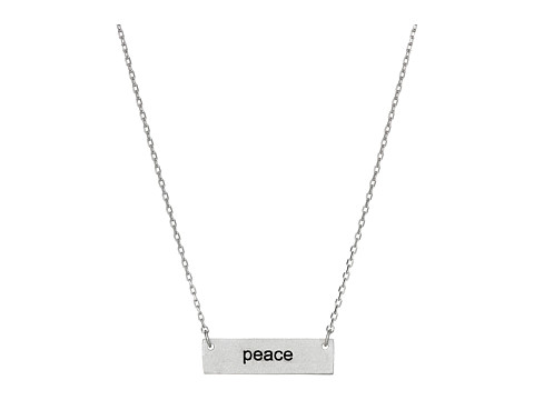Dee Berkley - Peace Plate Necklace (Silver) Necklace