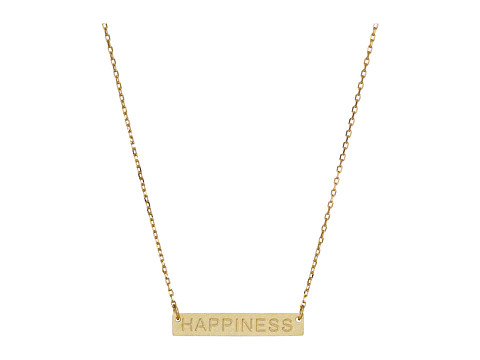 Dee Berkley - Happiness Plate Necklace (Gold) Necklace