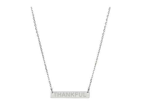 Dee Berkley - Thankful Plate Necklace (Silver) Necklace