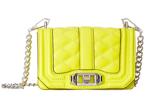 Rebecca Minkoff - Mini Love Crossbody (Electric Yellow) Cross Body Handbags