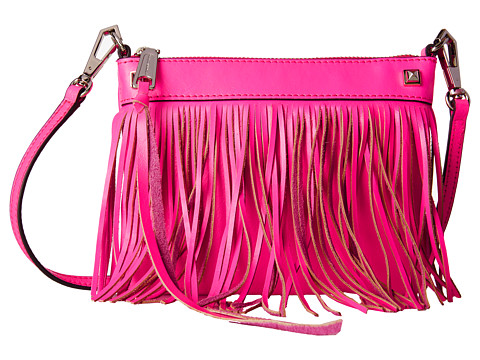 Rebecca Minkoff - Mini Fringe Crossbody (Electric Pink) Cross Body Handbags