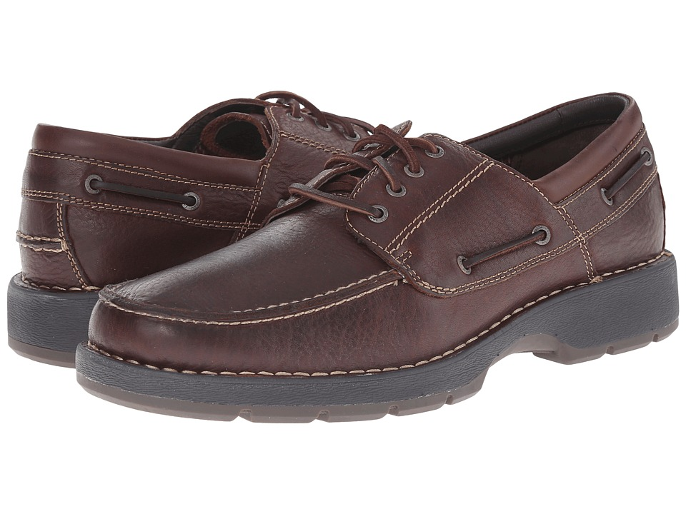 Johnston & Murphy - Byatt Moc Toe (Mahogany Full Grain) Men's Lace up casual Shoes