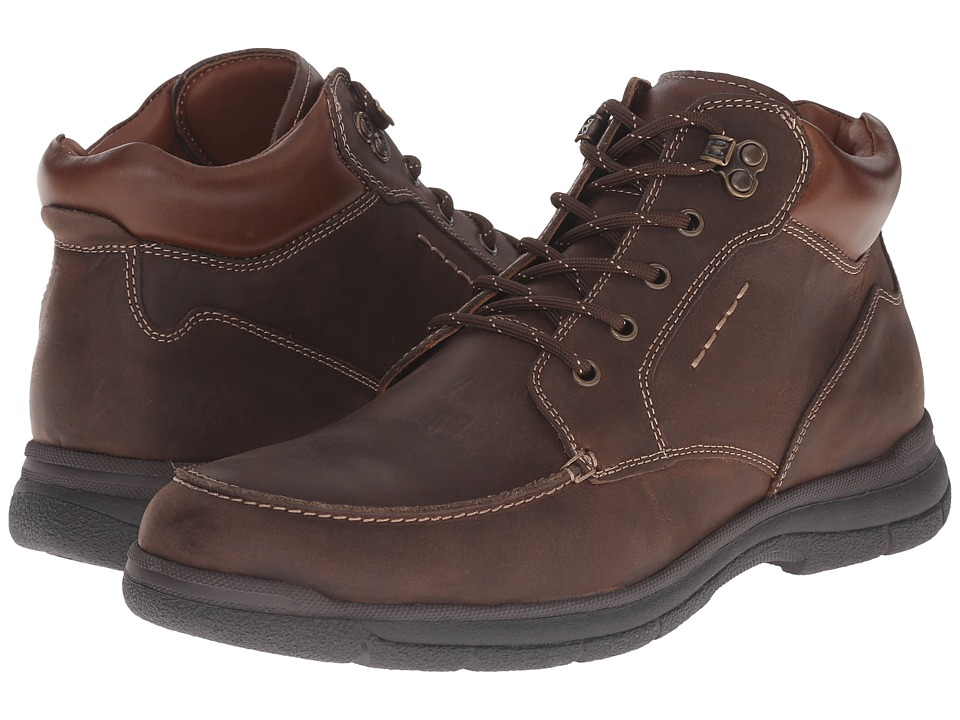 Johnston & Murphy Wickman Moc Toe Boot (Brown Oiled Full Grain) Men
