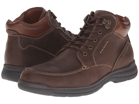 Johnston & Murphy - Wickman Moc Toe Boot (Brown Oiled Full Grain) Men's Lace-up Boots