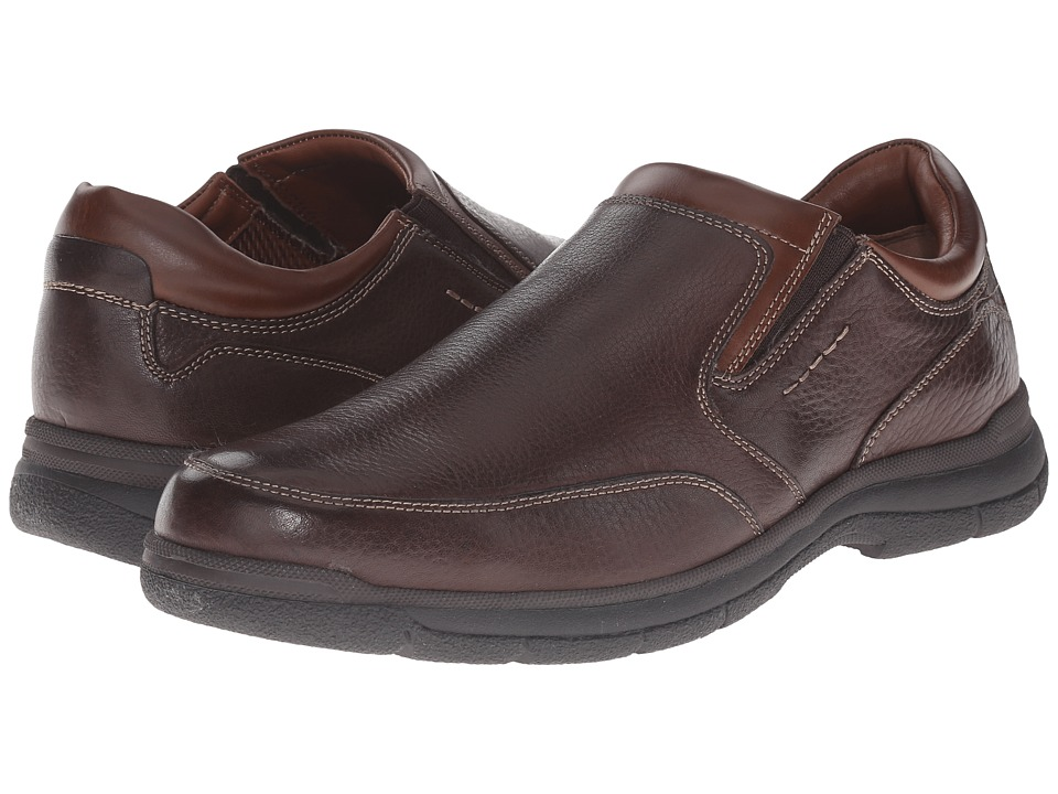 Johnston & Murphy - Wickman Slip-On (Brown Tumbled Full Grain) Men's Slip on Shoes