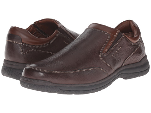 Johnston & Murphy - Wickman Slip-On (Brown Tumbled Full Grain) Men