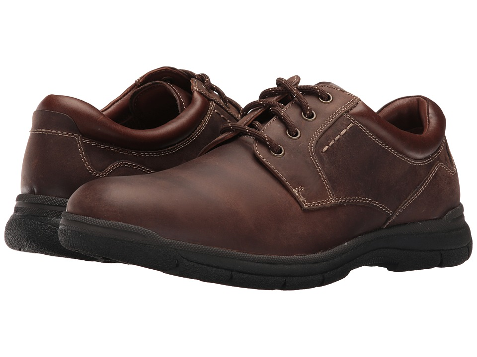Johnston & Murphy Wickman Plain Toe Lace-Up (Brown Oiled Full Grain) Men