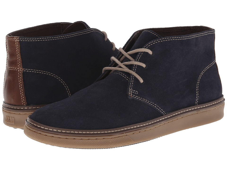 Johnston & Murphy McGuffey Chukka (Navy Suede) Men