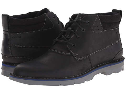 Clarks - Varick Hill (Black Leather) Men's Lace-up Boots