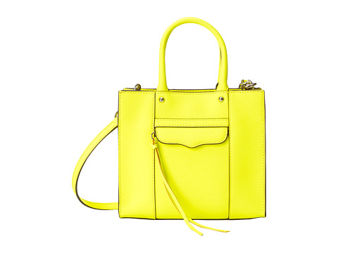Rebecca Minkoff - Mab Tote Mini (Electric Yellow) Tote Handbags