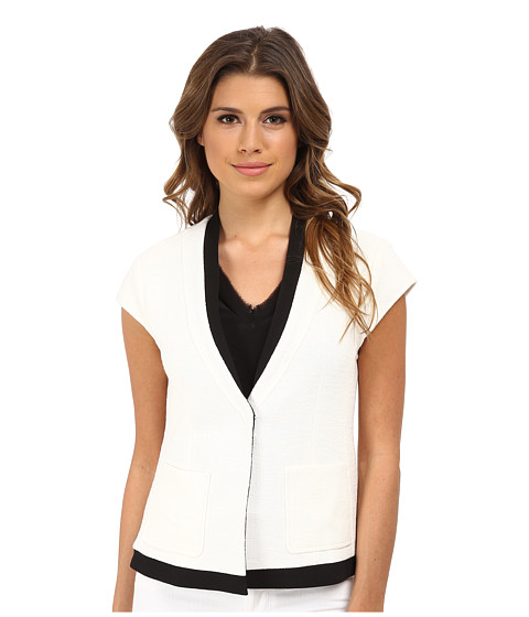 Nanette Lepore - Cross The Line Jacket (White Multi) Women's Coat