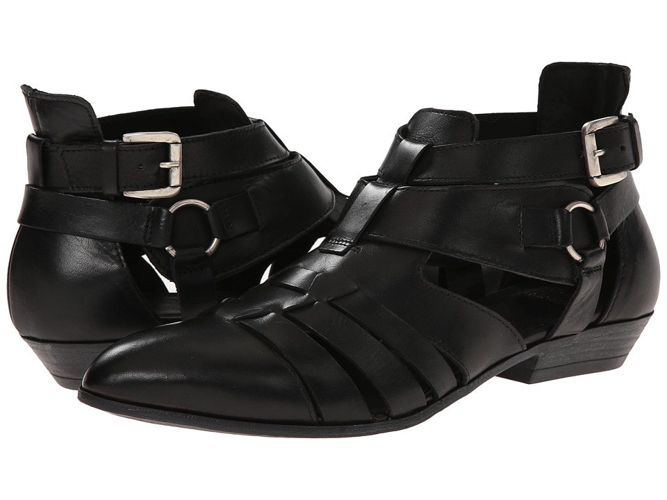 Summit by White Mountain - Belen (Black Leather) Women's 1-2 inch heel Shoes