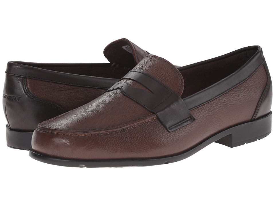Rockport - Classic Loafer Lite Penny (New Brown/Dark Bitter Chocolate) Men's Slip-on Dress Shoes