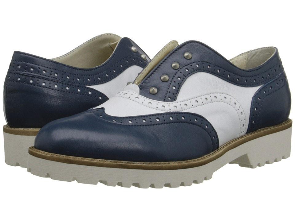 Summit White Mountain - Etta (Blue Multi Leather) Women's Flat Shoes