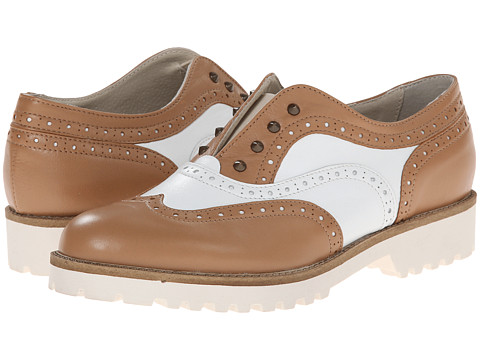 Summit White Mountain - Etta (Natural Multi Leather) Women's Flat Shoes